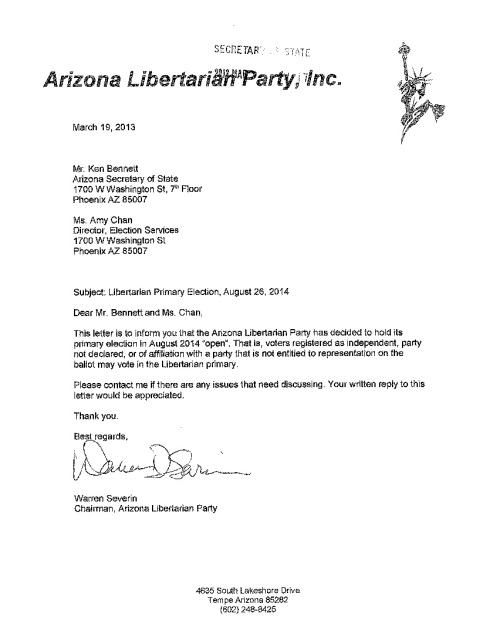 Libertarian Party - Open Primary